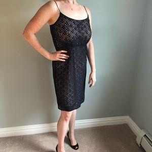 J Crew Lace Spaghetti Strap Dress Black
